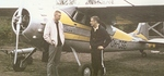 1966-06, Malmi, SLK:n ensimmäinen oma lentokone Cessna 195 1965-1972, lentäjät Kalevi Kuokkanen ja Seppo Laitakari. Kuva: SLK 25 v julkaisu via Lake