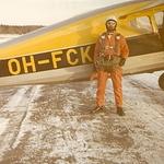 VaaLK:n Fairchild hyppykone 1970. OH-FCK:sta <br>62 hyppyä.<br>