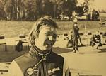 MM-Kilpailu Nyköping 28.7.-7.8.1988. Kilpailija Sinikka Nieminen. Kuva: Hannu Laitinen