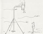 1988-08-07 MM-Nyköping. Sään herättämiä tunnelmia kuvasi Italialainen Paolo Bertolini piirroksissaan. iirros: Paolo Bertolini