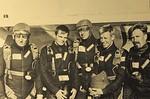 MM-Kilpailu Nyköping 28.7.-7.8.1988. Kilpailijoita: Tatu Soini (vas.), Timo Toivonen, Olavi Kilpinen, Jouni Lahti ja Anssi Horppu. Kuva: Hannu Laitinen